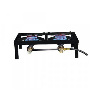 Two Burner Angle Iron Portable Stove by Mr. Heater Basecamp