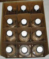 One Dozen Quart Glass Maple Syrup Jars