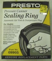 Presto Sealing Ring, Air Vent, and Overpressure Plug # 09905
