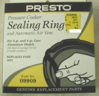 Presto Sealing Ring and Air Vent #09909