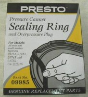 Presto Sealing Ring and Overpressure Plug #09985