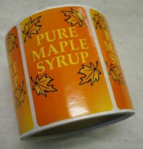 "3"" x 2"" Pure Maple Syrup Labels 100 pk"