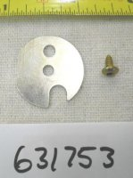 Tecumseh Carburetor Shutter Plate and Screw Part# 631753