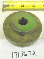 "Troy Bilt Cast Iron ""V"" Pulley Part# 1713672"