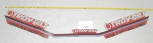 Troy Bilt Chipper Shredded Decal Part# 1772401