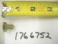 Troy Bilt Sickle Bar Metric Bolt Part# 1766752