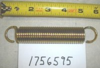 Troy Bilt Wide Cut Extension Spring Par t# 1756595