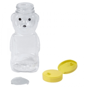 12oz Plastic Bear Jar- Case of 12 HBEAR12