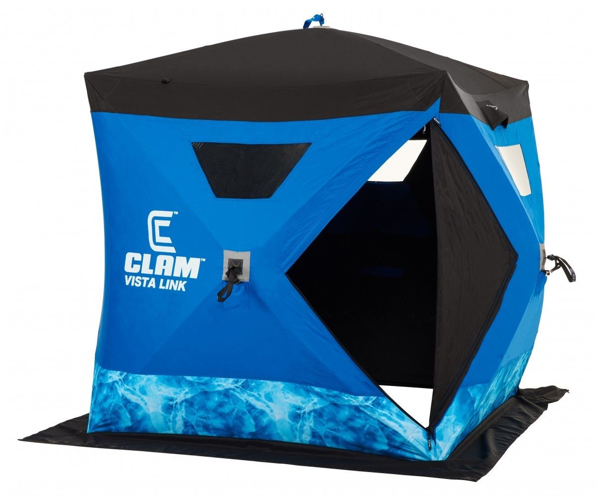 Clam Outdoors 10133 Vista Link 2-3 Anglers Ice Fishing Shelter - Click Image to Close
