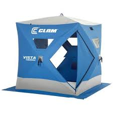 Clam Vista 6'x6' Pop up 2 person Ice Shelter Tent