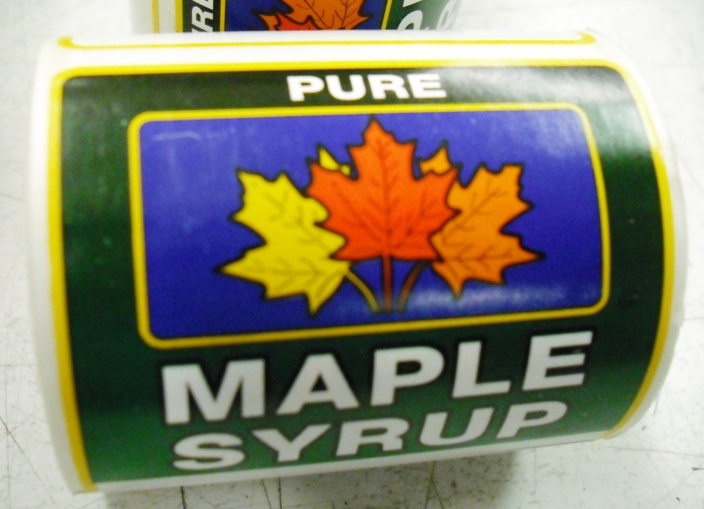 "2 3/4"" x 2 1/4"" Pure Maple Syrup Labels"