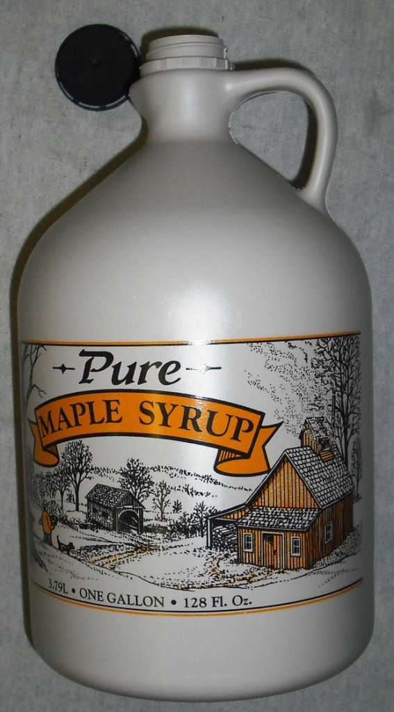 1 Gallon Plastic Maple Syrup Jug