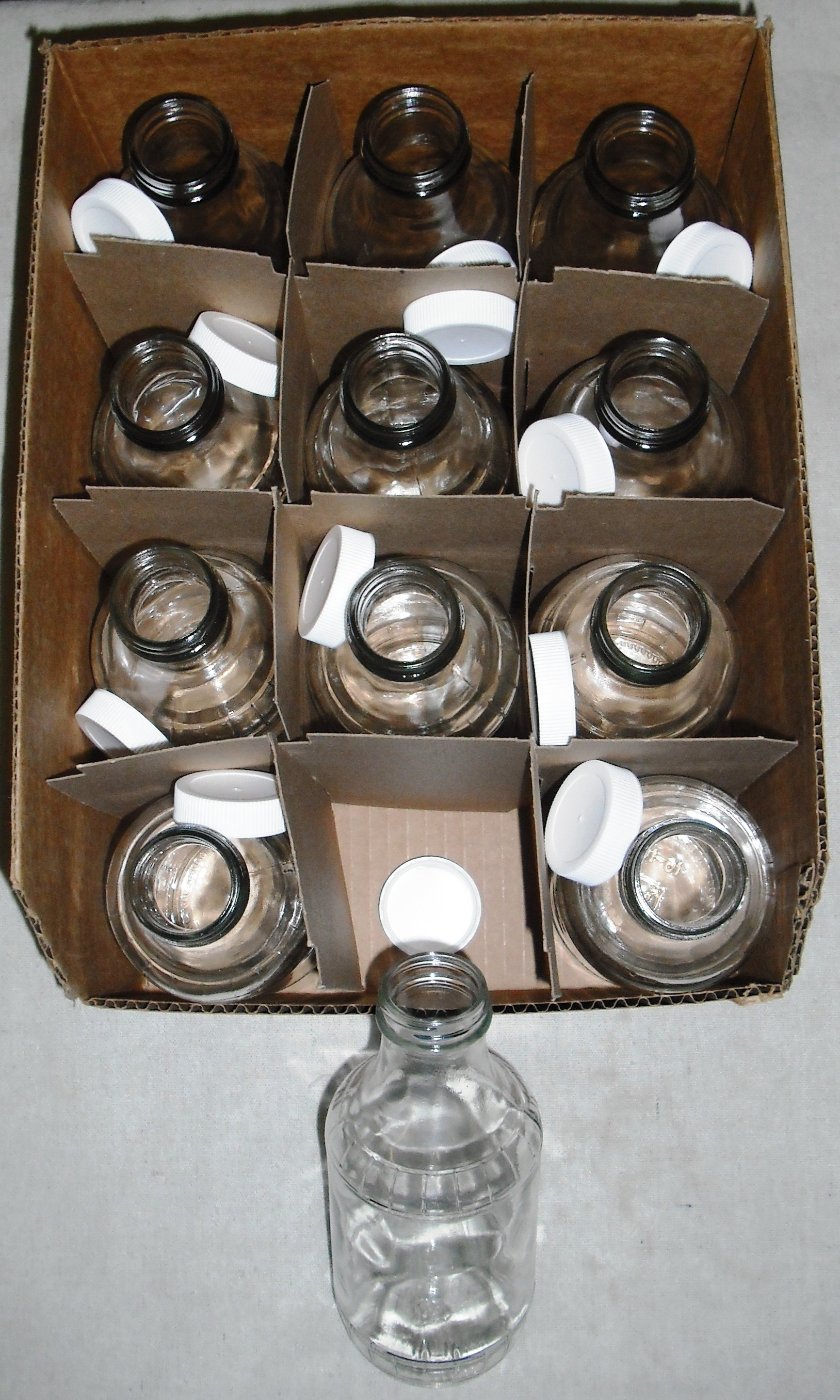One Dozen Pint Glass Maple Syrup Bottles