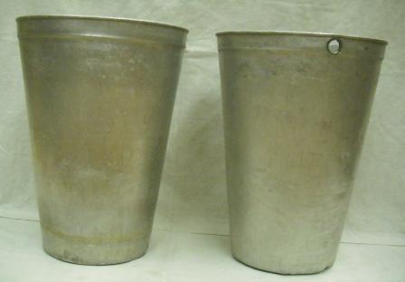 Used 3 Gallon Aluminum Pails / Buckets