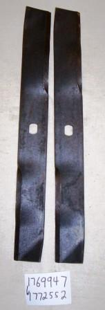 Set of 2 Wide Cut Walk Behind Mower Blades # 1772552
