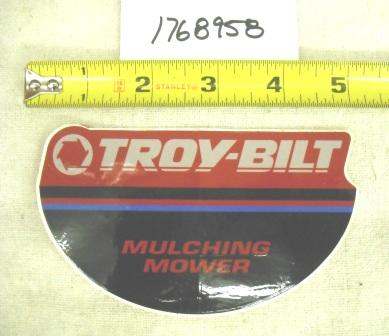 Troy Bilt Pushmower Decal Part# 1768958