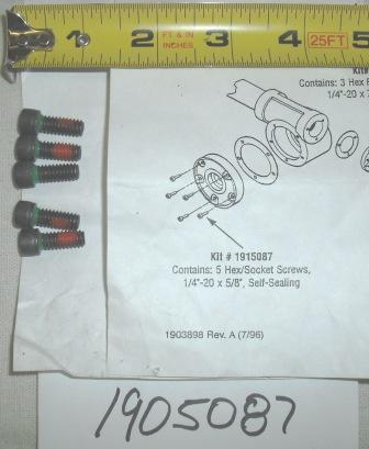 Troy Bilt Tiller Bolt Set Part# 1915087