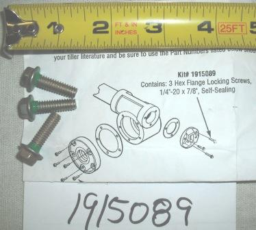 Troy Bilt Tiller Sealing Screw Set Part# 1915089