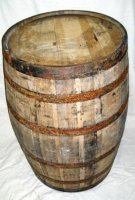 Used Oak Barrels - Planter - Rain Barrel - Whiskey Barrel