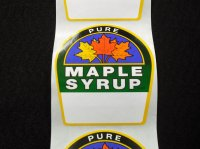 Pure Maple Syrup Labels