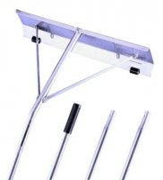 21' All Aluminum Roof Snow Rake with roller glide wheels