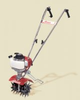 Mantis 4-Cycle Tiller includes Kick Stand