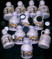 12 Empty One Pint Plastic Maple Syrup Jugs