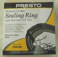 Presto Sealing Ring and Air Vent #09906
