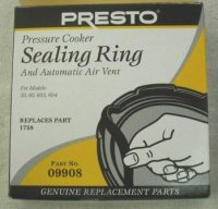 Presto Sealing Ring and Air Vent #09908