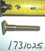 Troy Bilt Pushmower Curved Head Bolt Part# 1731025