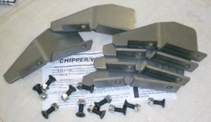 Chipper Vac Fan Blade Kit Set of 6 Kit # 1902808